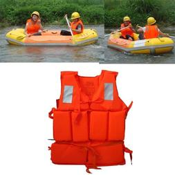 Adult Working Life Jacket Foam Vest Survival Suit Whistle Ou