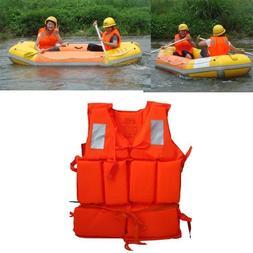 Adult Working Life Jacket Foam Vest Survival Suit Whistle Ou