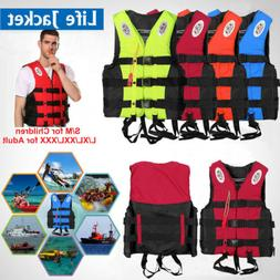 Adults Kids Life Jacket Swimming Fishing Floating Kayak Buoy