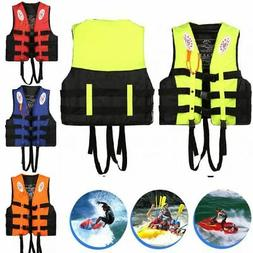 Life Jacket Vest Adult PFD 4 Colors Fully Enclosed Size S-3X