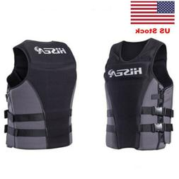 Adults Neoprene Life Jacket Vest for Water Rescue Surfing Bo