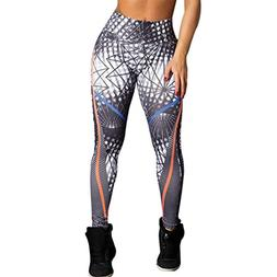 Athletic leggings, Gillberry Women High Waist Yoga Fitness L