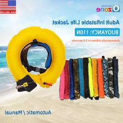 Auto/Manual Inflatable Belt Pack Waist Life Jacket PFD Saili