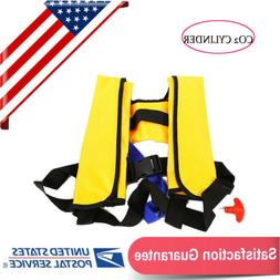 Automatic Inflatable Life Jacket Pfd Adult Fishing Vest Wate