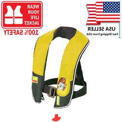 Automatic/Manuel Auto Inflate Inflatable PFD Survival Buoyan