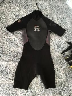 Body Glove Black Pro 3 Shorty Wetsuit S And Life Vest Jacket