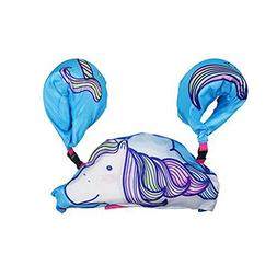 ED-Lumos Blue Unicorn Kids Life Jacket Vest Learn to Swim fo