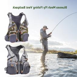 Blusea Mesh Fly Fishing Vest Backpack Breathable Outdoor Fis