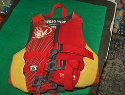 "Body Glove Neoprene Youth Life Jacket 30-50 pounds 15-25"" ch"