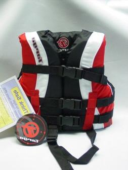 Bombardier Targa Kid's Nylon Life Jacket Vest PFD Child Red