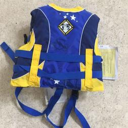 Body Glove Boys Blue/Yellow Life Jacket USCG PFD - Child 30-