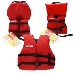 Boys Girls Life Jacket Boat Swimming Swim Vest PFD Red Infan