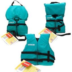 Boys Girls Life Jacket Boat Swimming Swim Vest PFD Teal Infa