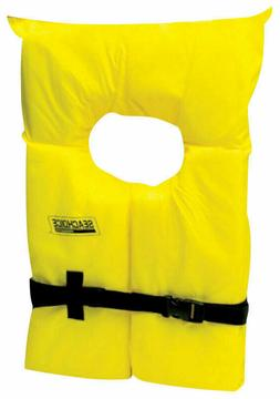 brand new adult yellow life jacket 86020