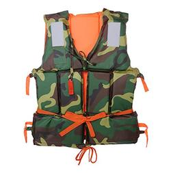 Buoyancy Life Jacket,Camouflage Adult Boating Swimming Life