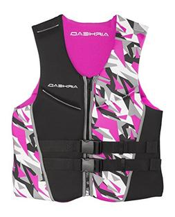 Airhead Camo Cool Neolite Pink Life Vest Jacket, Womens Medi