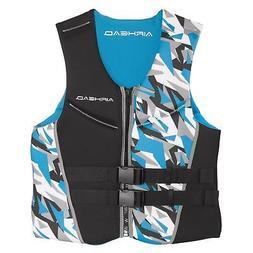Airhead Mens XXL Camo Cool Neolite Kwik-Dry Blue Life Vest J