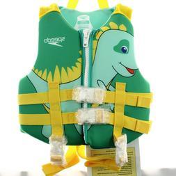Speedo CB Child PFD Boys' Life Jacket Vest, Dinosaur