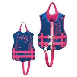 Full Throttle Child Rapid Dry Pfd Blue/Pink 30-50 Lbs