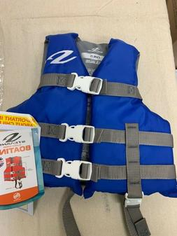 Stearns Child's Classic Boating Vest Life Jacket Blue NWT