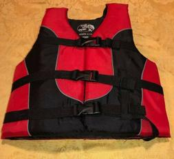 Child Youth 50-90 LB Red Buckle Swimming Boating Water Life