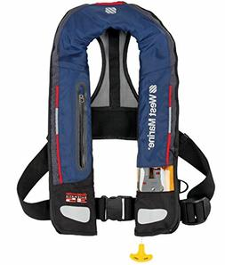 WEST MARINE Deep Water Automatic Inflatable Life Vest—Navy
