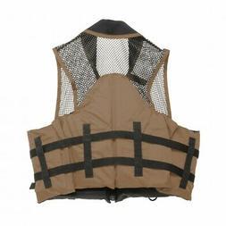 Deluxe Mesh Top Fishing Vest, 4XL-6XL, Bark