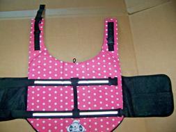Dog Life Jacket Large Pink Polka Dot Life Vest Boat Swim Paw
