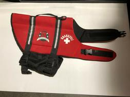 Paws Aboard Dog Life Jacket Red Lifeguard Neoprene Large 50-