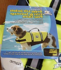 Dog Life Jacket Small Neon Yellow Life Vest Paws Aboard, Nyl