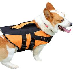 vecomfy Premium Dog Life Jacket for Swimming,Thicken Safety