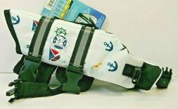 Paws Aboard Dog Life Jacket X-Small Nautical Designer 7-15 P