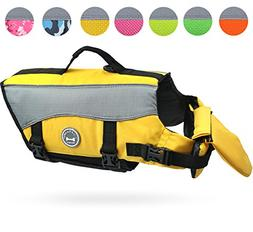 Vivaglory Dog Life Jackets with Extra Padding for Dogs, Smal