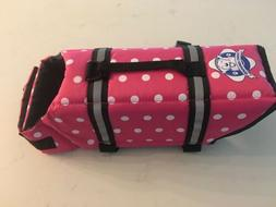Paws Aboard Doggy Life Jacket, Small, Pink Polka Dot