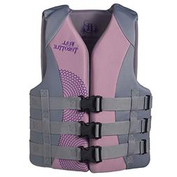 Full Throttle Women's Dual Sized Rapid Dry Life Vest, Purple