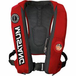Mustang Elite Inflatable PFD Bass Competition, Red