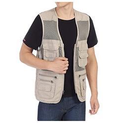 Men's Fishing Hunting Mesh Vest Photography Work Multi-pocke