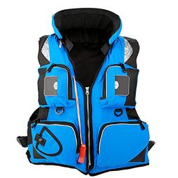 Fishing Life Jacket Vest, Multi-Pocket Detachable Watersport