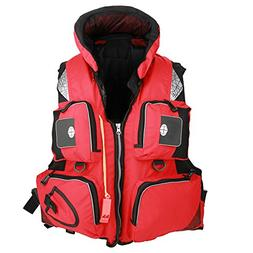 Fishing Life Jacket Vest, Multi-pocket Detachable Watersport