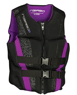 O'Brien Women's Flex V-Back Neo Life Vest, X-Small, Purple