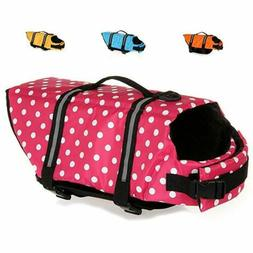 Dog Life Jacket Floatation Device Swimsuit Size Adjustable S