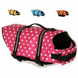 Dog Life Jacket Floatation Device Swimsuit Size Adjustable S