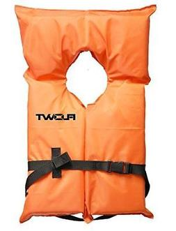Flowt 40000-UNV AK-1 Type II Life Jacket, Orange, Adult Univ