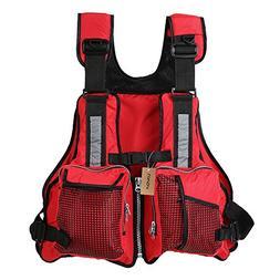 Lixada Fly Fishing Vest,Fishing Life Jacket Vest Multi Pocke