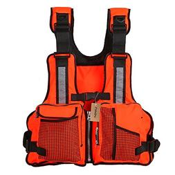Lixada Fly Fishing Vest,Fishing Life Jacket Vest Multi Pocke