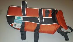 Frisco M Orange Adjustable Reflective Pet Dog Life Vest Flot