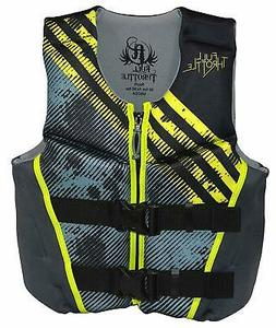 Full Throttle Youth Rapid Dry Flex Back Life Jacket - Lime
