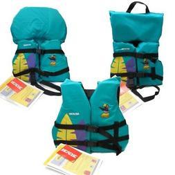 Kids Girls Life Jacket Boat Swimming Swim Vest PFD Teal Hula