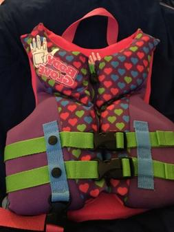 Girls Size 30 To 50 Pounds Body Glove New Life Jacket Preser