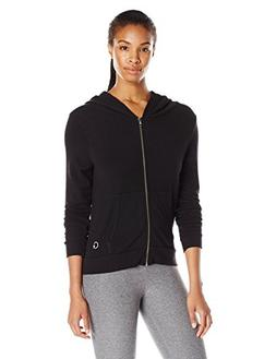 good hYOUman Women's Toni Black Sand Zip up Hoodie, Black Sa